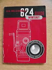Instructions cine movie camera BELL & HOWELL 624 MONTEREY guide CD/Email