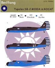 Bestfong Decals 1/72 TUPOLEV SB-2 M100A Bomber Chinese Air Force