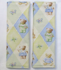 TEDDY BEARS Padded Baby Car/Pram Seat Belt Covers**Bamboo Wadding**New 1 Pair