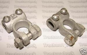 BATTERY TERMINALS, POSITIVE & NEGATIVE, HEAVY DUTY; FOR VARIOUS TRACTORS