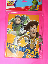 DISNEY PIXAR TOY STORY JOURNAL TOYS AT PLAY  LOCKING  PARTY FAVOR   NEW