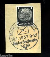 Briefmarken--Briefmarke--Mit SONDERSTEMPEL--München--Tag der Briefmarke--1937