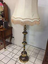 Antike Chippendale Stehlampe Messing 163cm jugendstil vintage kugel messing form