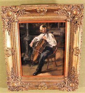 "Georges van Zevenberghen(1877-1968 Belgien)""Violonchellist"" Ol/Holz,"