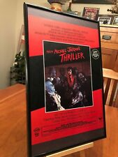 "set of 7 BIG 11X17 FRAMED MICHAEL JACKSON ""THRILLER""-ERA LP ALBUM CD PROMO ADS"
