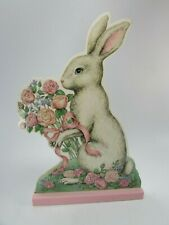 Midwest Cannon Falls Table Top Wooden Easter Bunny Panel 31928  Rabbit Spring