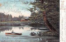 SEHR SELTEN Prägekarte 1904@Gruss aus dem bayr. Wald@Am Arbersee Frontenhausen