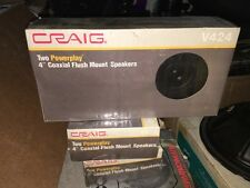 "craig two powerplay 4"" coaxial flush mount speakers V424 RARE VINTAGE"