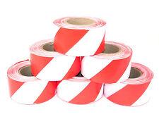 Absperrband Rot-weiß 75mmx250m Warnband Flatterband