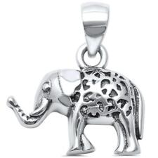 Elephant Good Luck Charm .925 Sterling Silver Pendant