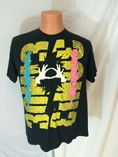 3 Oh 3 Concert T Shirt Black With Hands And Lightning Bolts Size XL