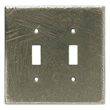 Double Switch Toggle Wall Plate Distressed Rustic Pewter Brainerd 64724