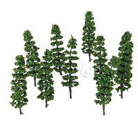 20Pcs 9cm Model Pinaster Trees Layout Dollhouse Park Landscape HO OO Scale 1:100