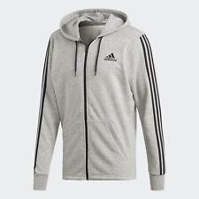 ADIDAS 3 Stripe Full Zip Hoodie Jacket - Size Medium