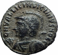 LICINIUS II Jr 321AD Authentic Ancient Roman Coin JUPITER w Victory EAGLE i80229