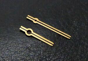 Zeigersatz 130/060 Zeiger Gold für Vintage Armbanduhren 1,30 / 0,60 mm -  N°11