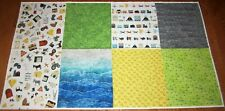 2 yd Panel Hoffman AROUND TOWN 100% Cotton Fabric GOURMET QUILTER Farm Prairie