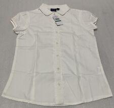 Nautica School Uniform Button Down Shirt Girls. White, Size L (12/14) Regular