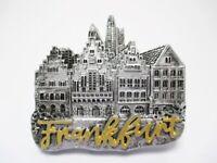 Frankfurt Magnet Römer mit Schrift Poly Souvenir Germany 7 cm silber