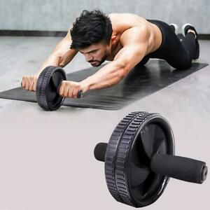 Ab Abdominal Exercise Roller Dual Wheel Strength Training Workout Gym Foam Abs