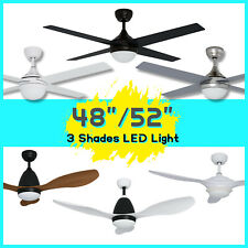 """Ceiling Fan With LED Light With Remote Control 48'' & 52"""" And AC&DC Motor Quite"""