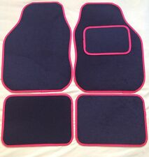 BLACK WITH RED TRIM CAR MATS PEUGEOT 106 107 206 207 307 308 407