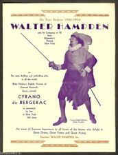 "Walter Hampden ""CYRANO de BERGERAC"" Whitford Kane 1932 Pittsburgh Tryout Flyer"