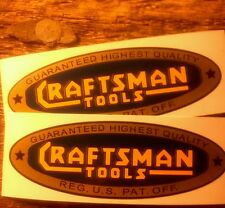 "Craftsman lathe 1930's style decal 3 3/8"" 2 for 1 early blue gold yellow"