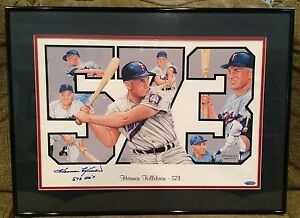 Harmon Killebrew Signed Framed Lithograph Twins 573 HRS Tri-Star Authentication
