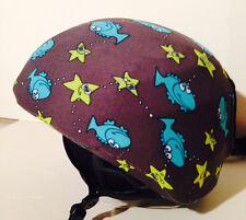 Ski & Sport Helmet cover by Shellskin. Fish & Starfish print Spandex. 1 Size