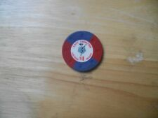 VEGAS LAST FRONTIER 1.00 CHIP VINTAGE EARLY OLD HISTORY NEVADA DANCING GIRL