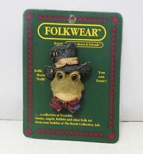 "1995 Boyd's FolkWear Collection Pin - ""Fenton J. Padworthy The Formal Frog"" New"