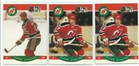 1990-91 PRO SET HOCKEY PETER STASTNY 2 ERROR & 1 CORRECTED CARDS #175