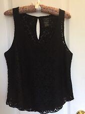 Aritzia | TALULA Women's Black Lace Sleeveless Top S