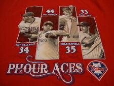 Mlb Philadelphia Phillies Major League Baseball Fan Players Phour Aces T Shirt M