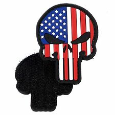 PVC Morale Patch Punisher American Flag 3D Badge Hook #14 Paintball