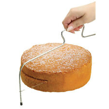 Kitchen Craft Large Sponge Cake Adjustable Layer Slicer, Cutting Levelling Wire