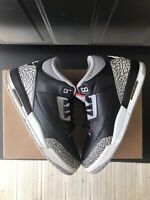"Air Jordan 3 Retro ""Black Cement"" US Youth Size 7Y Good Condition"