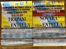 2 LOCANDINE MANIFESTO STADIO CALCIO VIRTUS ENTELLA VS. TRAPANI E NOVARA 2016