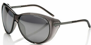 PORSCHE DESIGN P8602 A Women's Black Transarent Sunglasses Grey Lens
