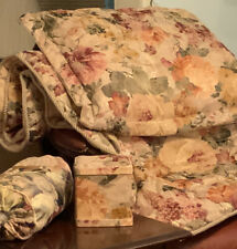 Vintage Floral Shabby Chic Boho Gold Yellow Red Twin Comforter Set 2 Sets 8 Piec
