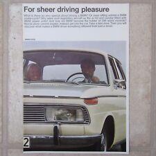 BMW 1600 1800 2000 tilux TI CS C R69S UK Market Fold-Out Range Brochure 1966
