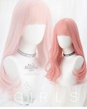 Wig Harajuku Daily Sweet Kawaii Lolita Pink Gradient Doll Long Curly Hair
