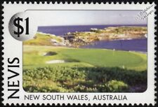 NEW SOUTH WALES GOLF CLUB (La Perouse, Australia) Golf Course Stamp (1997 Nevis)