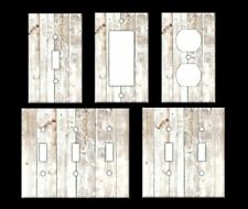 RUSTIC WOOD LIGHT #2 Light Switch Covers Home Decor Outlet MULTIPLE OPTIONS