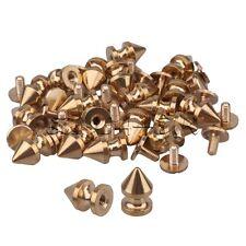20pcs Brass Tree Spikes Studs Metallic Screwback For DIY Leathercraft Gold Color