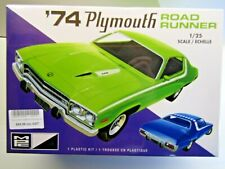 MPC 1:25 Scale 1974 Plymouth Road Runner Model Kit - Sealed - Kit # MPC920M/12