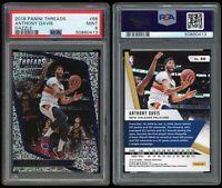 2018-19 Panini Threads Anthony Davis PSA 9 #66 SP DAZZLE Parallel Pelicans NBA