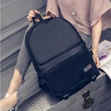 Mens Womens Backpack PU Leather Sport Shoulder Travel Hiking School Book Bags