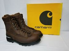 Carhartt Soft Toe Waterproof Logger Work Boots CML8150 size 12 W
